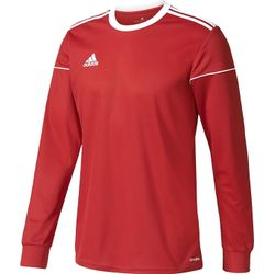 Adidas Squadra 17 Voetbalshirt Lange Mouw Kinderen - Rood / Wit