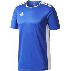 Adidas Entrada 18 Shirt Korte Mouw Heren - Royal / Wit