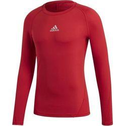 Adidas Alphaskin Shirt Lange Mouw Kinderen - Rood