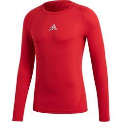Adidas Alphaskin Shirt Lange Mouw - Rood