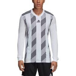 Voorvertoning: Adidas Striped 19 Voetbalshirt Lange Mouw Kinderen - Wit / Zwart