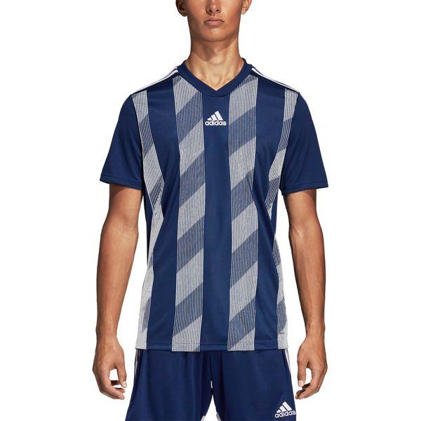 Adidas Striped 19 Shirt Korte Mouw Kinderen - Marine / Wit