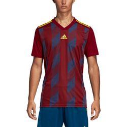 Voorvertoning: Adidas Striped 19 Shirt Korte Mouw Kinderen - Bordeaux / Fluogeel