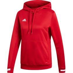 Adidas Team 19 Sweater Met Kap Dames - Rood / Wit