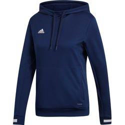 Adidas Team 19 Sweater Met Kap Dames - Marine / Wit