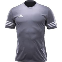 Adidas Entrada 14 Maillot Manches Courtes Enfants - Light Grey / White