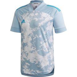 Adidas Condivo 20 Primeblue Shirt Korte Mouw Heren - Lichtblauw / Wit
