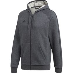 Adidas Core 18 Jas Met Kap Heren - Donkergrijs Gemeleerd