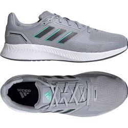Adidas Runfalcon 2.0 Hardloopschoenen - Zilver / Wit / Turkoois