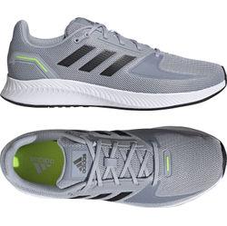 Adidas Runfalcon 2.0 Hardloopschoenen - Zilver / Wit / Fluo Groen