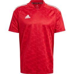 Adidas Condivo 21 Shirt Korte Mouw - Rood
