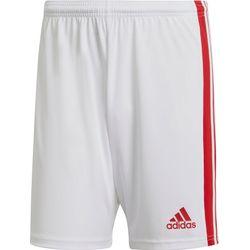 Adidas Squadra 21 Short Hommes - Blanc / Rouge