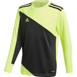 Adidas Squadra 21 Maillot De Gardien Manches Longues Enfants - Noir / Jaune Fluo