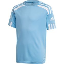 Adidas Squadra 21 Shirt Korte Mouw Kinderen - Hemelsblauw / Wit