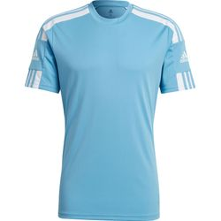 Adidas Squadra 21 Maillot Manches Courtes Hommes - Bleu Ciel / Blanc