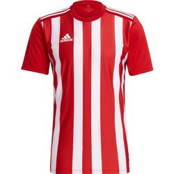 Adidas Striped 21 Maillot Manches Courtes Hommes - Rouge / Blanc