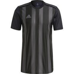 Adidas Striped 21 Shirt Korte Mouw Heren - Zwart / Grijs