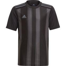 Adidas Striped 21 Shirt Korte Mouw Kinderen - Zwart / Grijs
