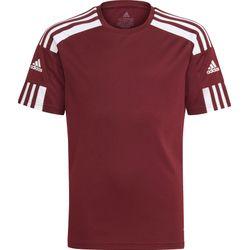 Adidas Squadra 21 Shirt Korte Mouw Kinderen - Bordeaux / Wit