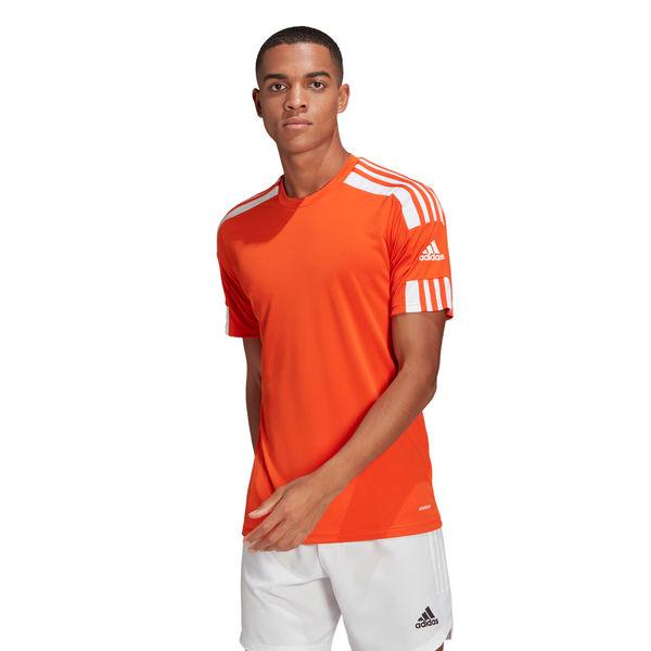 Adidas Squadra 21 Maillot Manches Courtes Hommes - Orange / Blanc