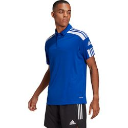 Adidas Squadra 21 Polo Heren - Royal / Wit