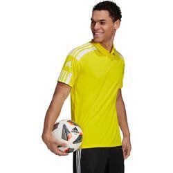 Adidas Squadra 21 Polo Heren - Geel / Wit