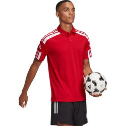 Adidas Squadra 21 Polo Heren - Rood / Wit