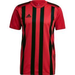 Adidas Striped 21 Shirt Korte Mouw Heren - Rood / Zwart