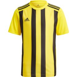 Adidas Striped 21 Shirt Korte Mouw Kinderen - Geel / Zwart