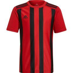Adidas Striped 21 Shirt Korte Mouw Kinderen - Rood / Zwart