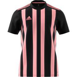 Adidas Striped 21 Shirt Korte Mouw Heren - Zwart / Roze