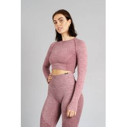 Aesthetic Wolf Pulse Seamless Crop Top Dames - Red