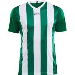 Craft Progress Stripe Shirt Korte Mouw Heren - Groen / Wit