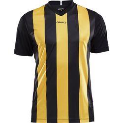 Craft Progress Stripe Shirt Korte Mouw Heren - Zwart / Geel