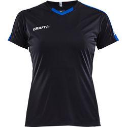 Craft Progress Contrast Shirt Korte Mouw Dames - Zwart / Royal