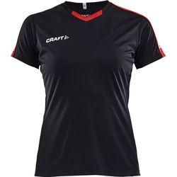 Craft Progress Contrast Shirt Korte Mouw Dames - Zwart / Rood