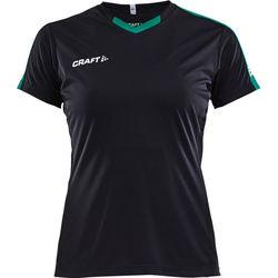 Craft Progress Contrast Shirt Korte Mouw Dames - Zwart / Groen