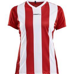 Craft Progress Stripe Shirt Korte Mouw Dames - Rood / Wit