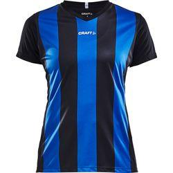 Craft Progress Stripe Shirt Korte Mouw Dames - Zwart / Royal