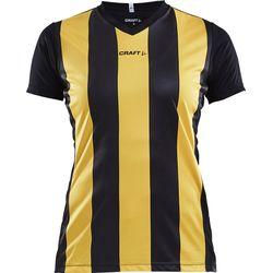 Craft Progress Stripe Shirt Korte Mouw Dames - Zwart / Geel