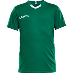 Craft Progress Contrast Shirt Korte Mouw Kinderen - Groen / Wit