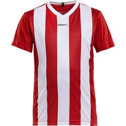 Craft Progress Stripe Shirt Korte Mouw Kinderen - Rood / Wit