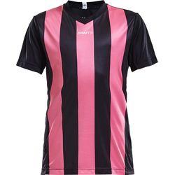 Craft Progress Stripe Shirt Korte Mouw Kinderen - Zwart / Roze