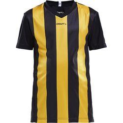 Craft Progress Stripe Shirt Korte Mouw Kinderen - Zwart / Geel