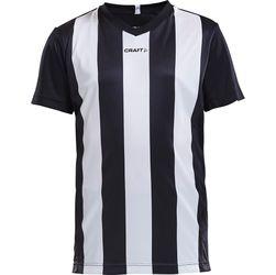 Craft Progress Stripe Shirt Korte Mouw Kinderen - Zwart / Wit