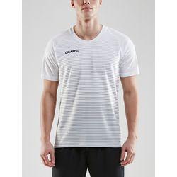 Craft Pro Control Stripe Shirt Korte Mouw Heren - Wit / Zilver