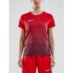 Craft Pro Control Stripe Shirt Korte Mouw Dames - Rood / Marine