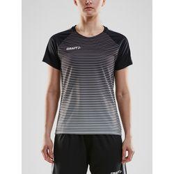 Craft Pro Control Stripe Shirt Korte Mouw Dames - Zwart / Zilver
