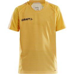 Craft Pro Control Stripe Shirt Korte Mouw Kinderen - Geel