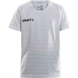 Craft Pro Control Stripe Maillot À Manches Courtes Enfants - Blanc / Argent
